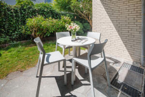 Ferienhaus Harmening FeWo 1- Terrasse - Garten